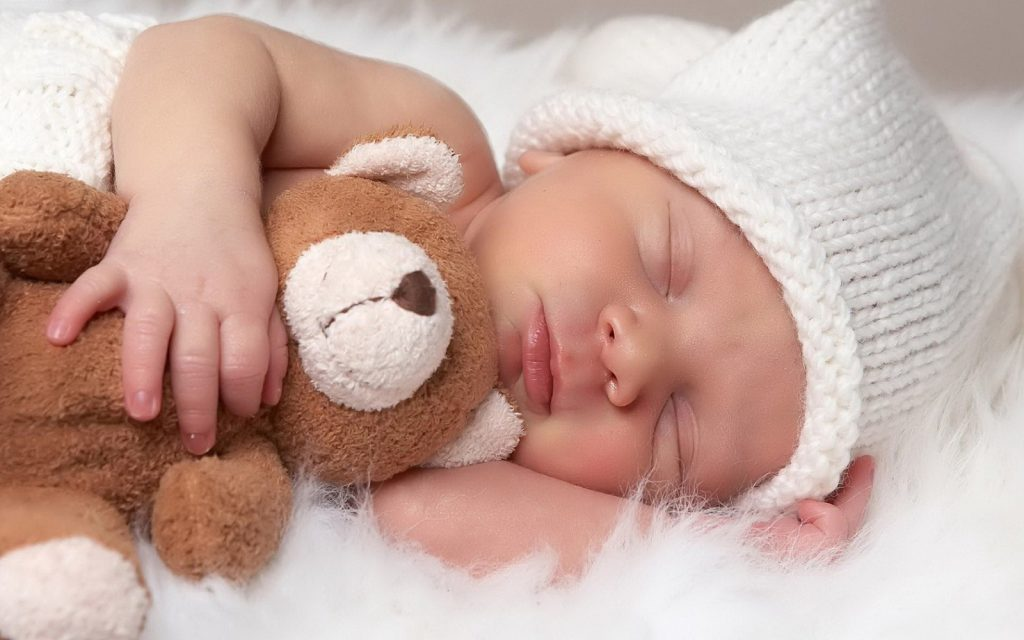 Header image of a sleeping baby